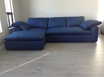 Royal Blue Corner Sofa Bed at ViVi Upholstery - Custom Furniture Upholstery in Toronto