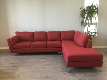 Red Corner Sofa Bed at ViVi Upholstery - Custom Furniture Upholstery in GTA