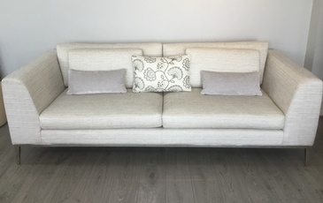 Off-White Studio Couch at ViVi Upholstery - Custom Furniture Upholstery in North York