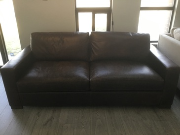Dark Brown 2 Seater Sofa at  ViVi Upholstery - Custom Furniture Upholstery GTA