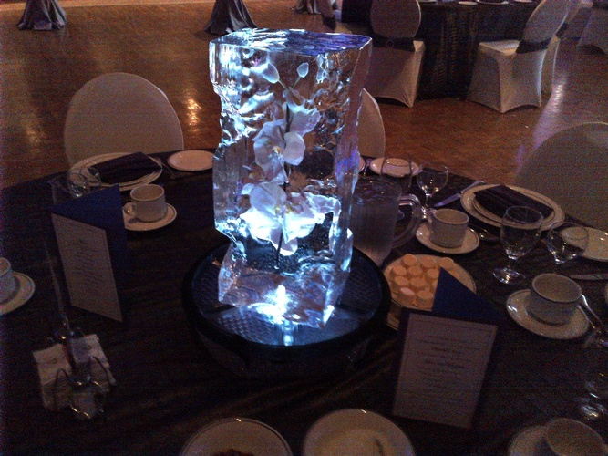 Ice Sculpture Table Centerpiece by Festive Ice Sculptures