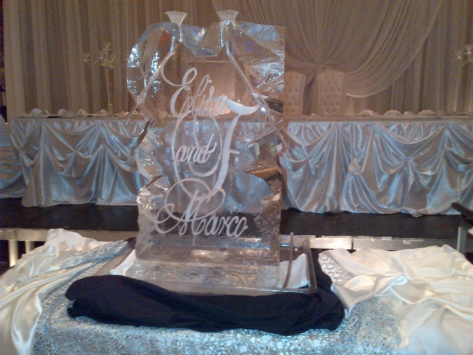 Wedding Ice Sculptures in Windsor by Festive Ice Sculptures