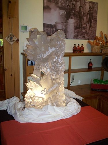Wedding Ice Carving by Festive Ice Sculptures in London