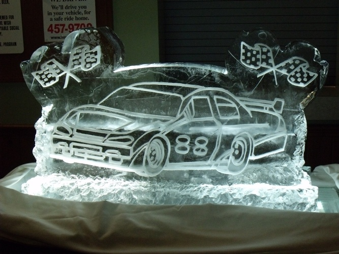 Car Ice Sculpture Mississauga by Festive Ice Sculptures