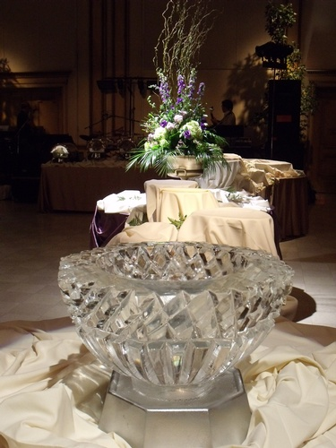 Carved Ice Bowl by Festive Ice Sculptures