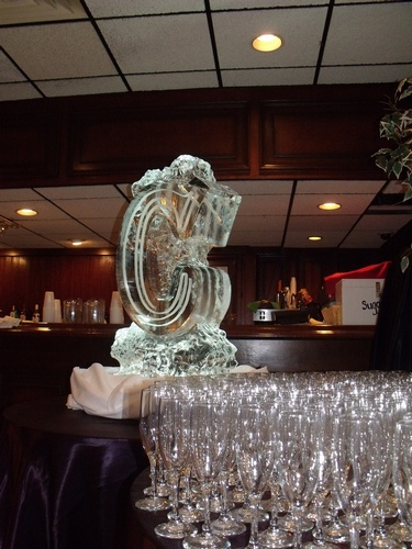 Martini Luge Oakville by Festive Ice Sculptures