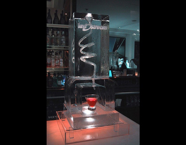 Martini Ice Luge Brampton Ontario by Festive Ice Sculptures