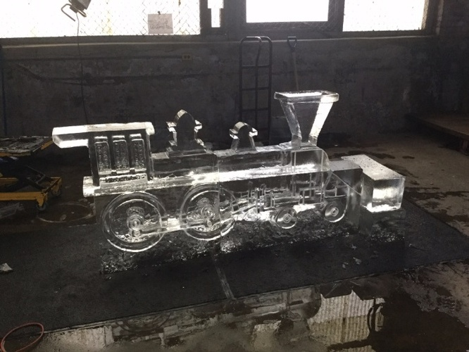 Train Ice Sculpture by Festive Ice Sculptures
