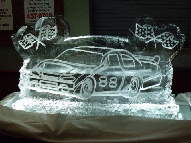 Elegant Ice Design by Festive Ice Sculptures