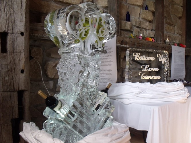 Ice Luge Sculpture for Wedding by Festive Ice Sculptures