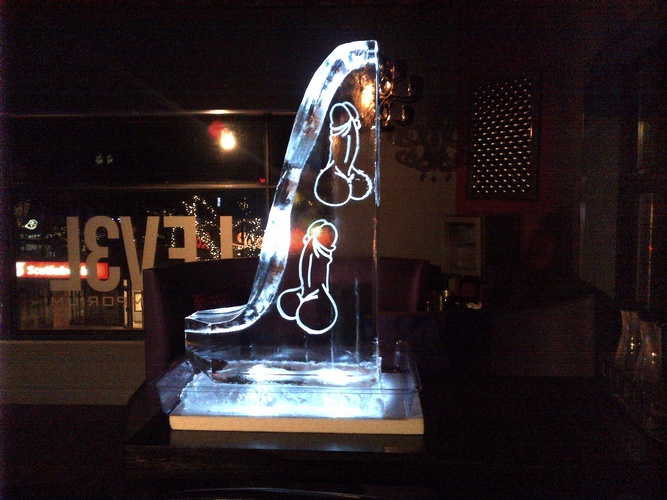 Martini Luge Cambridge Ontario  by Festive Ice Sculptures