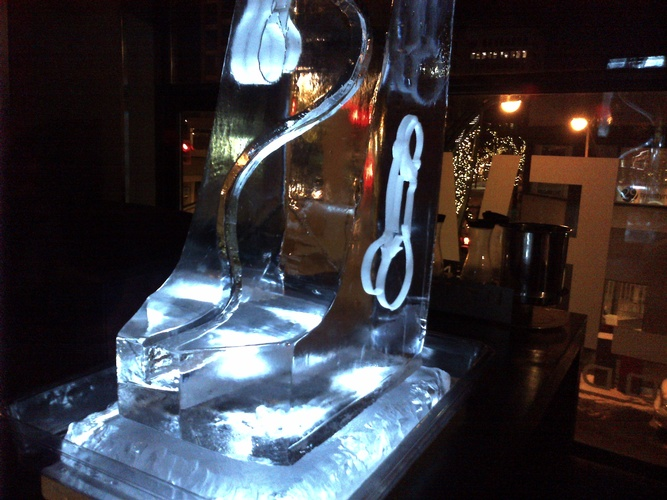 Best Ice Luge Sculpture Cambridge Ontario by Festive Ice Sculptures