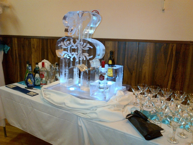 Best Ice Luge Bar by Festive Ice Sculptures in Cambridge