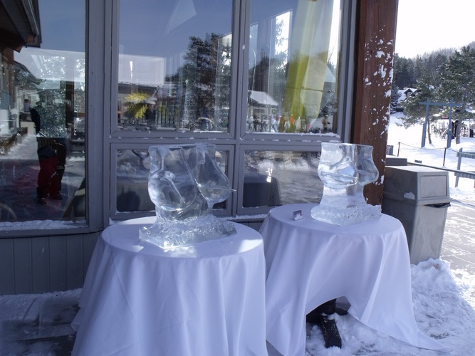 Martini Luge Hamilton by Festive Ice Sculptures