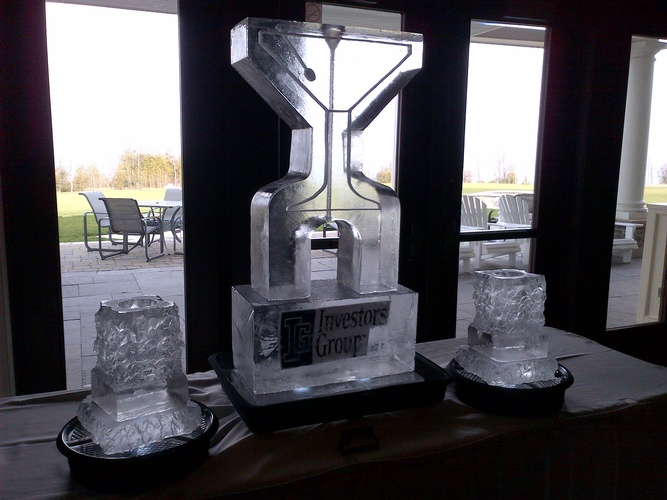 Ice Luge in Windsor by Festive Ice Sculptures