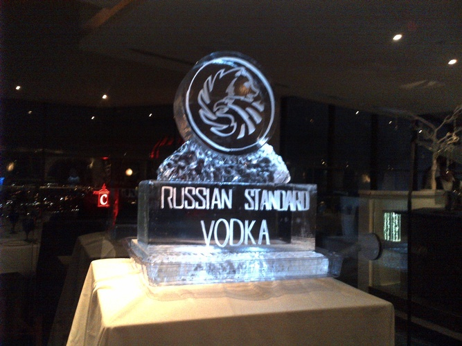 Vodka Ice Luge by  Festive Ice Sculptures in Toronto