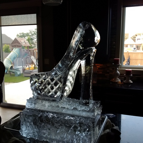 High Heel Ice Luge Sculpture by Festive Ice Sculptures