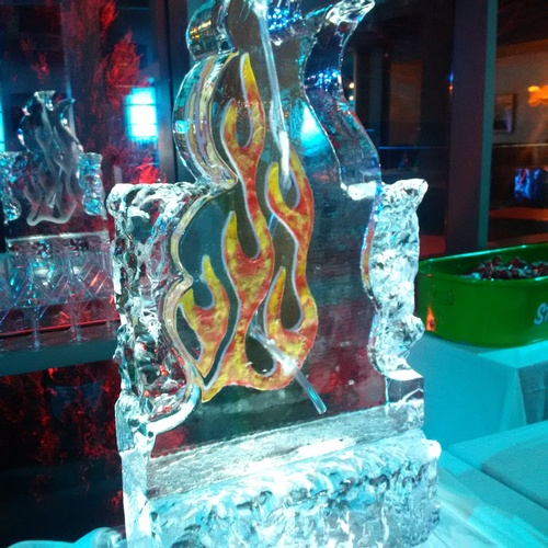 Corporate Ice Logo Sculpture Luge by Festive Ice Sculptures