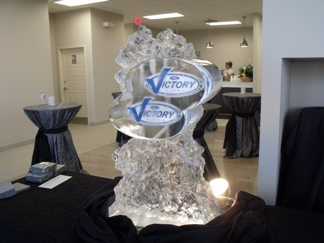 Corporate Ice Logos Burlington by Festive Ice Sculptures