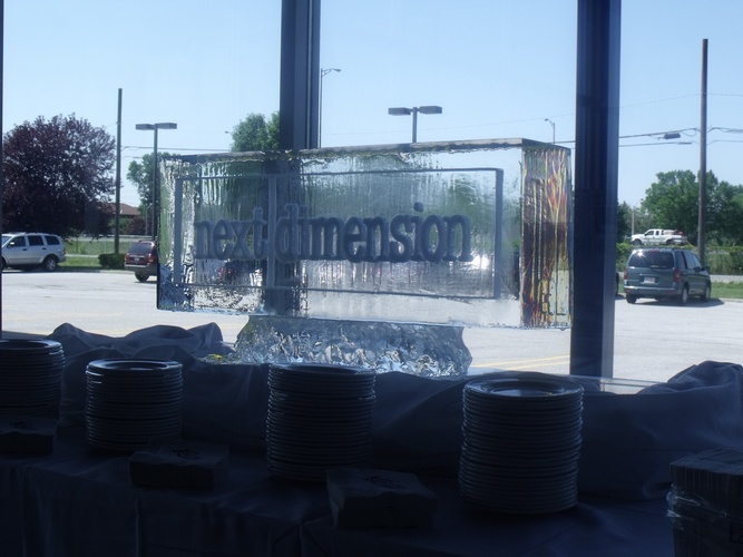 Corporate Ice Logos Oakville by Festive Ice Sculptures