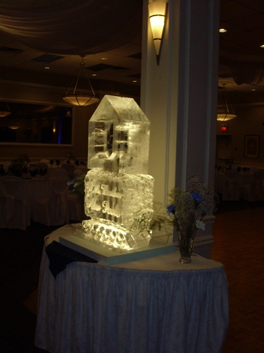Corporate Ice Logos Cambridge by Festive Ice Sculptures