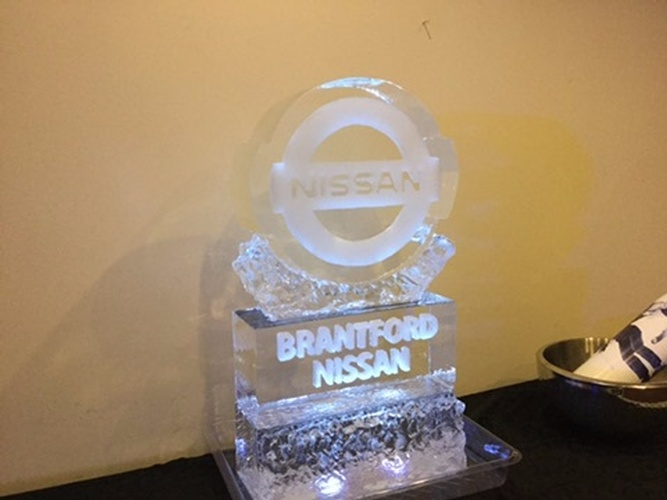 Corporate Ice Logos Kitchener Ontario by Festive Ice Sculptures