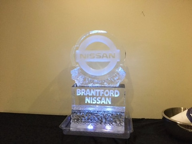 Corporate Ice Logos Brampton Ontario by Festive Ice Sculptures