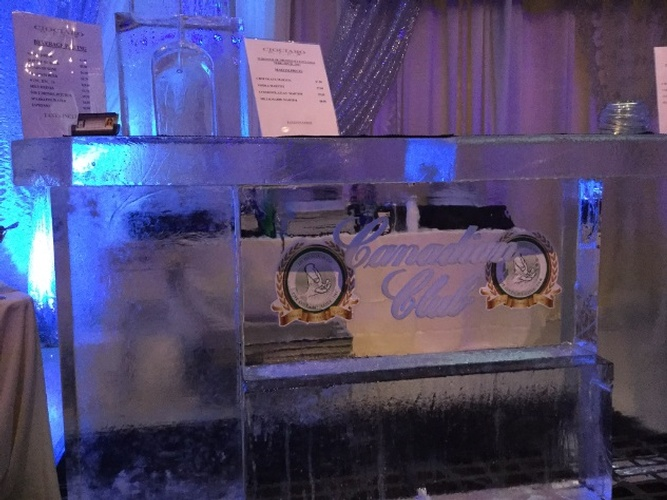 Corporate Logo Ice Bar by The Rich Guy at Festive Ice Sculptures
