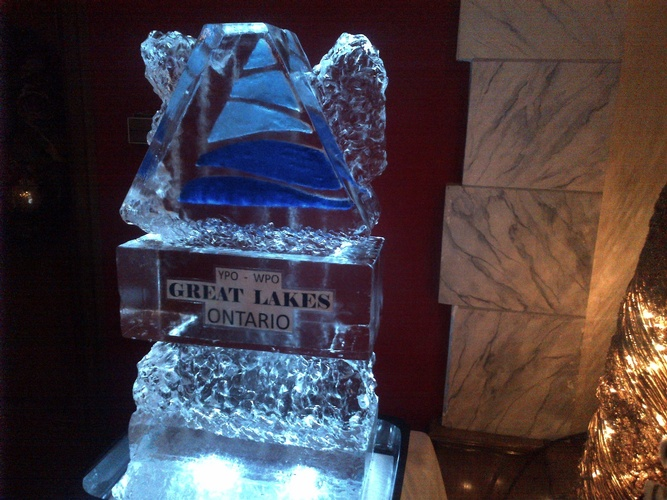Corporate Ice Logos Amherstburg by Festive Ice Sculptures