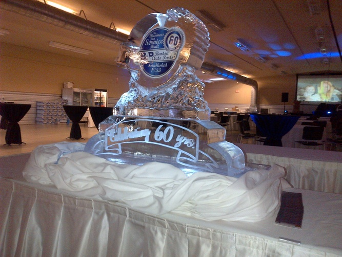 Corporate Ice Logos Strathroy by Festive Ice Sculptures