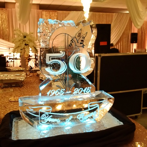 Ice Sculpture for a Corporate Event by Festive Ice Sculptures