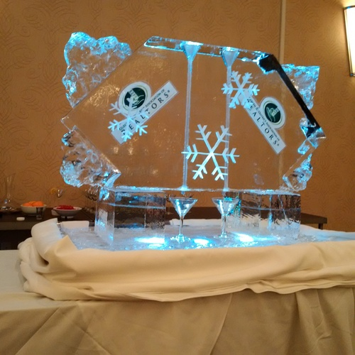 Corporate Ice Logo Luge by Festive Ice Sculptures