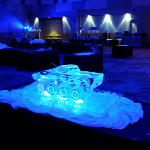 MIlitary Ice Sculpture by The Rich Guy at Festive Ice Sculptures