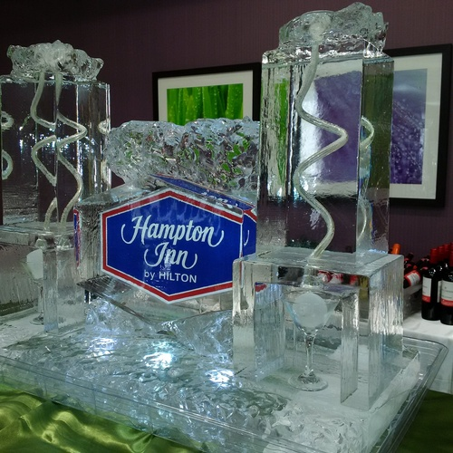 Corporate Logo Martini Luge by Festive Ice Sculptures