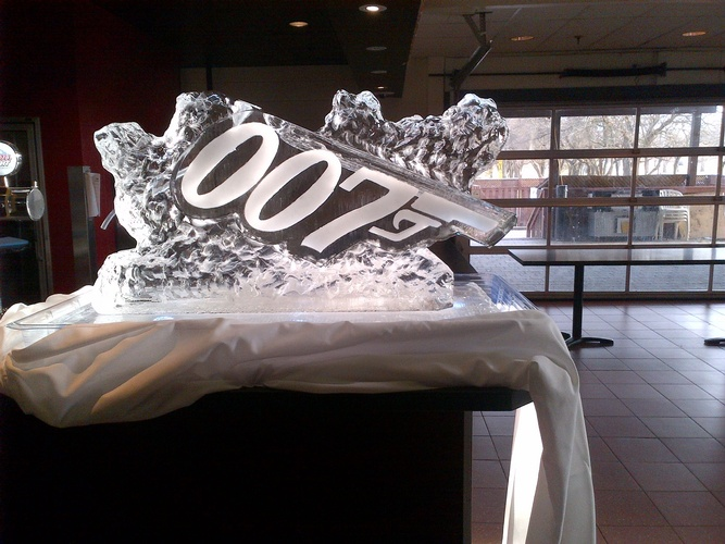 Corporate Ice Logo Tecumseh by Festive Ice Sculptures