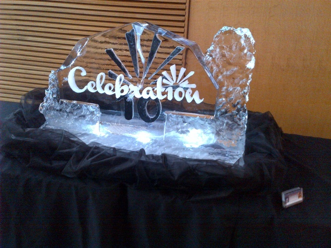 Corporate Ice Logos Chatham Ontario by Festive Ice Sculptures