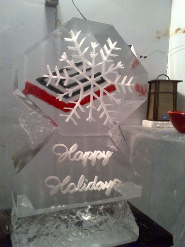 Corporate Ice Logo by Best Ice Sculptors in Brampton Ontario - Festive Ice Sculptures