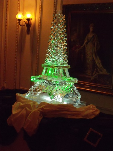 Eiffel Tower Ice Sculpture by Festive Ice Sculptures