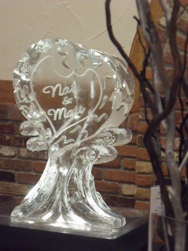Wedding Ice Sculpture Cambridge by Festive Ice Sculptures