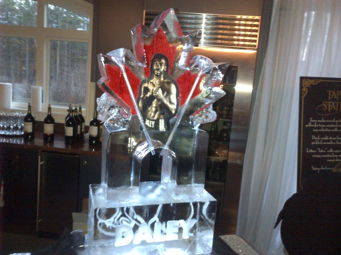 Ice Sculpture Ice Bar Ice Luge Ice Coctail Luge Ice drink server Ice Logo Luge London Hamilton Cambridge Oakville Windsor