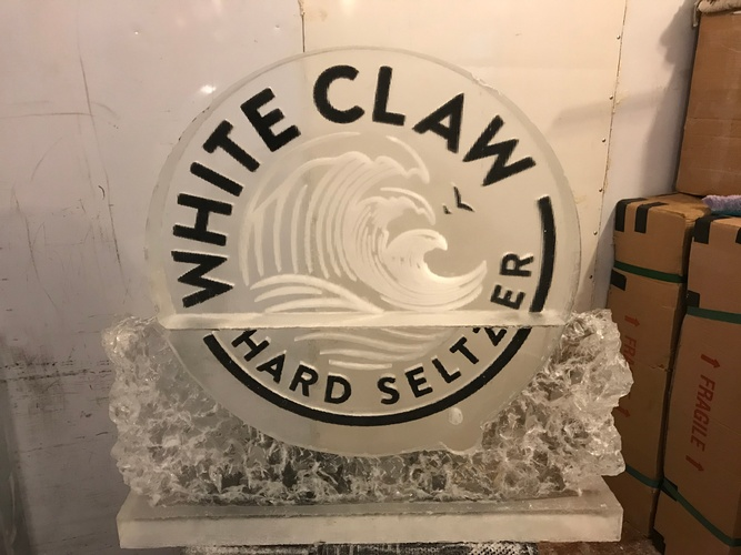 White Claw Hard Seltzer Logo - COVID 19 Ice Sculptures