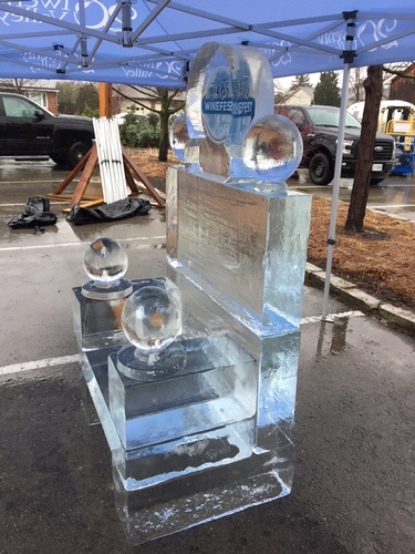A Ice Throne by Festive Ice Sculptures - COVID 19 Ice Sculptures Oakville