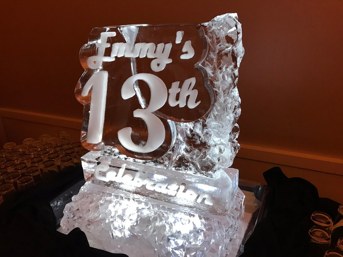 Decorative Ice Sculpture - COVID 19 Festive Ice Sculptures Cambridge