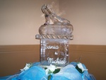 High Heel Shoe Ice Sculpture by  Festive Ice Sculptures