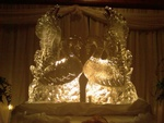 Swan Ice Sculpture - Wedding Table Centerpiece by Festive Ice Sculptures
