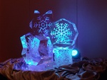 Snowflake Cluster Ice Sculpture by Festive Ice Sculptures