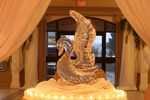 Lighted Table Centerpiece Wedding Ice Sculptures in Cambridge by Festive Ice Sculptures