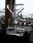 Ice Luge in Oakville by Festive Ice Sculptures
