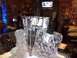 Bottle Holder Ice Sculpture by Festive Ice Sculptures