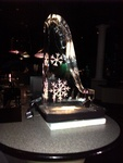 Snowflake Ice Luge by Festive Ice Sculptures